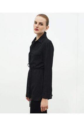 İpekyol Kadın Siyah Lyocell Gömlek