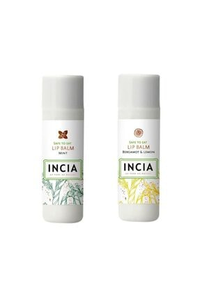 Incia Lip Balm Mint 6 gr 1 Adet - Bergamot Lemon 1 Adet 1 Alana 1 Bedava