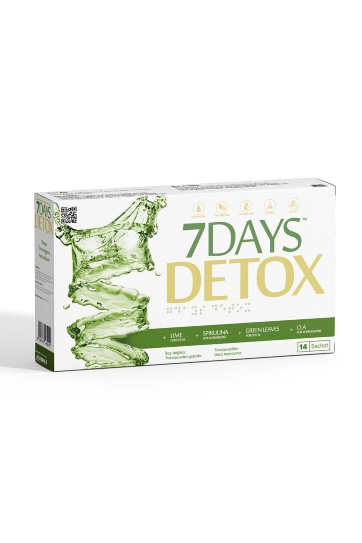 7DAYS 7 Days Detox - Spirulina Cla Yeşil Çay Ve Lime - 14 Saşe 2