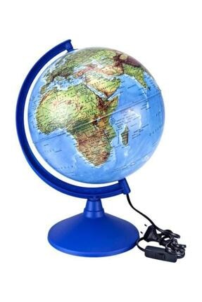 Brons Işıklı Dünya Küre 30 Cm. Çap Siyasi-fiziki