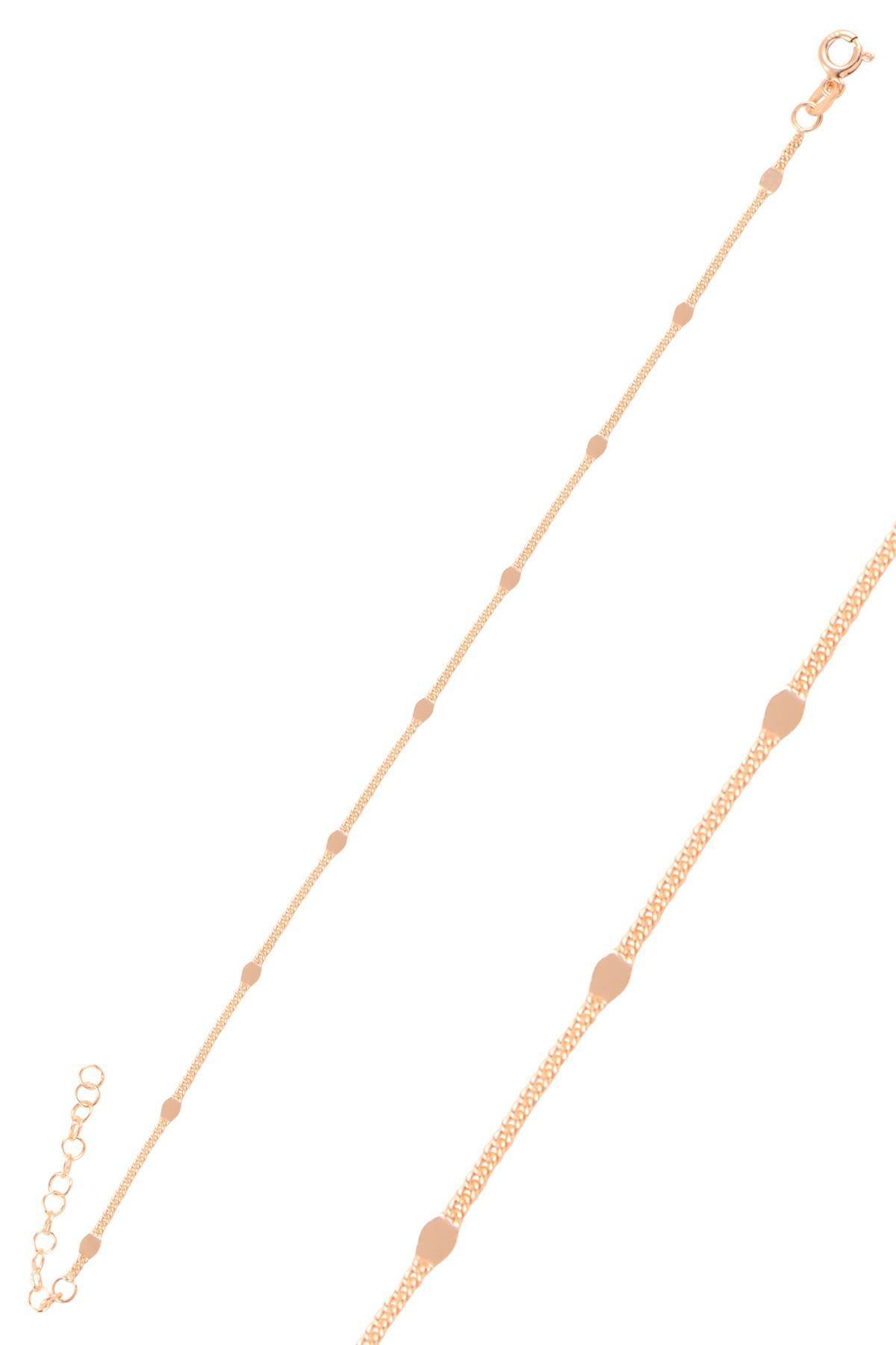 Söğütlü Silver Gümüş Rose  Pullu Gurmet  Zincir Bileklik