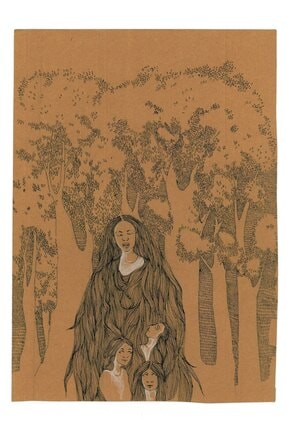 Melike Kılıç Anne, 21x29,7, Kraft Kağıt Üzerine Çizim