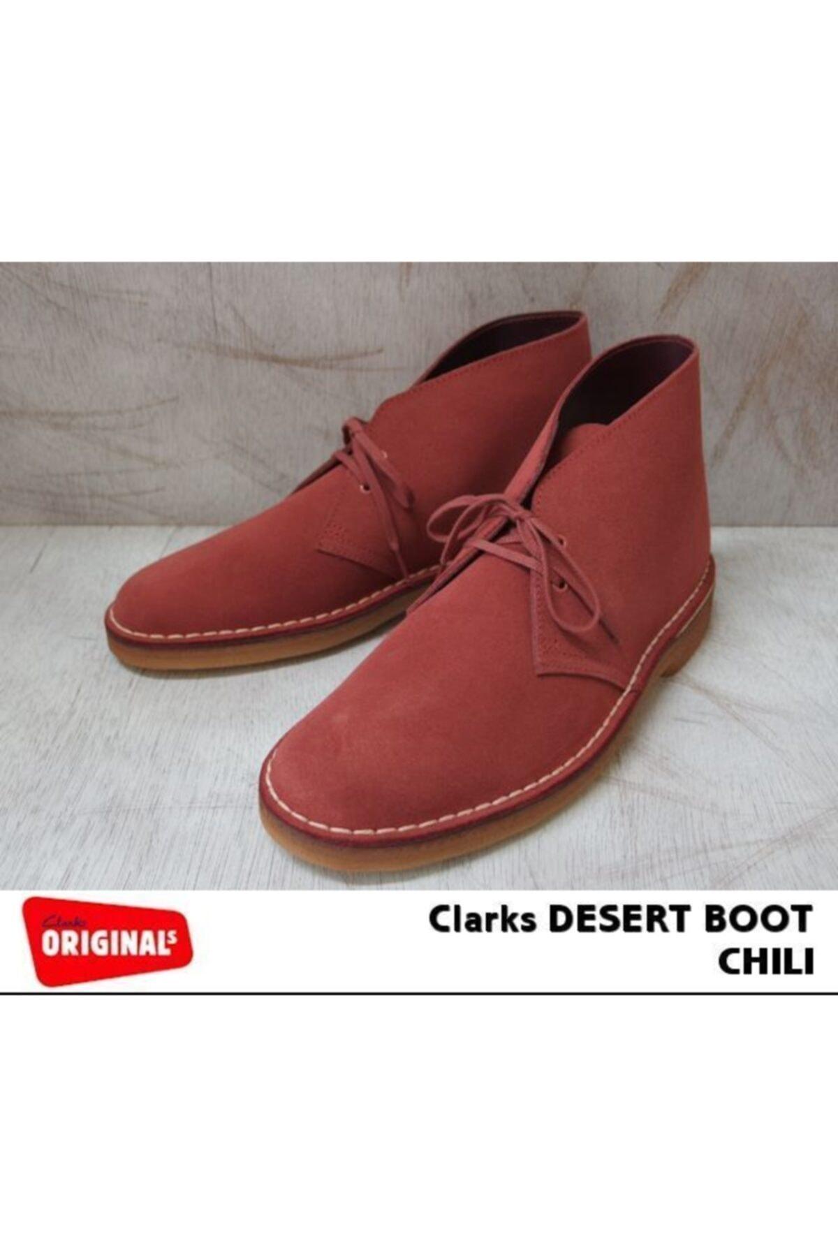 CLARKS Erkek Şık Ve Çok Yönlü Orijinal Desert Boot Red Suede 2