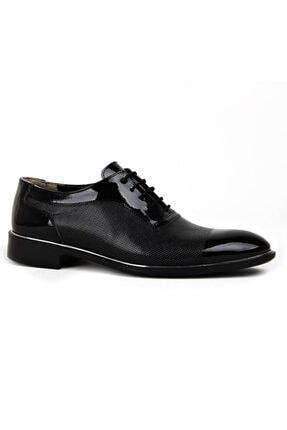 MKM Erkek Siyah Damatlık Rugan Klasik Ayakkabı