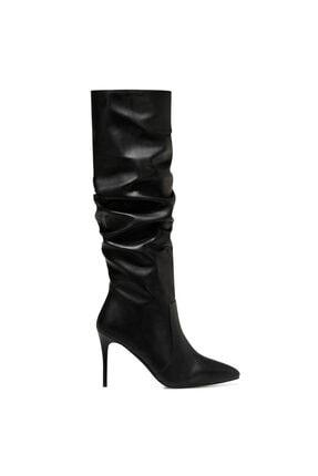Nine West PINTO Siyah Kadın Ökçeli Çizme 100582070