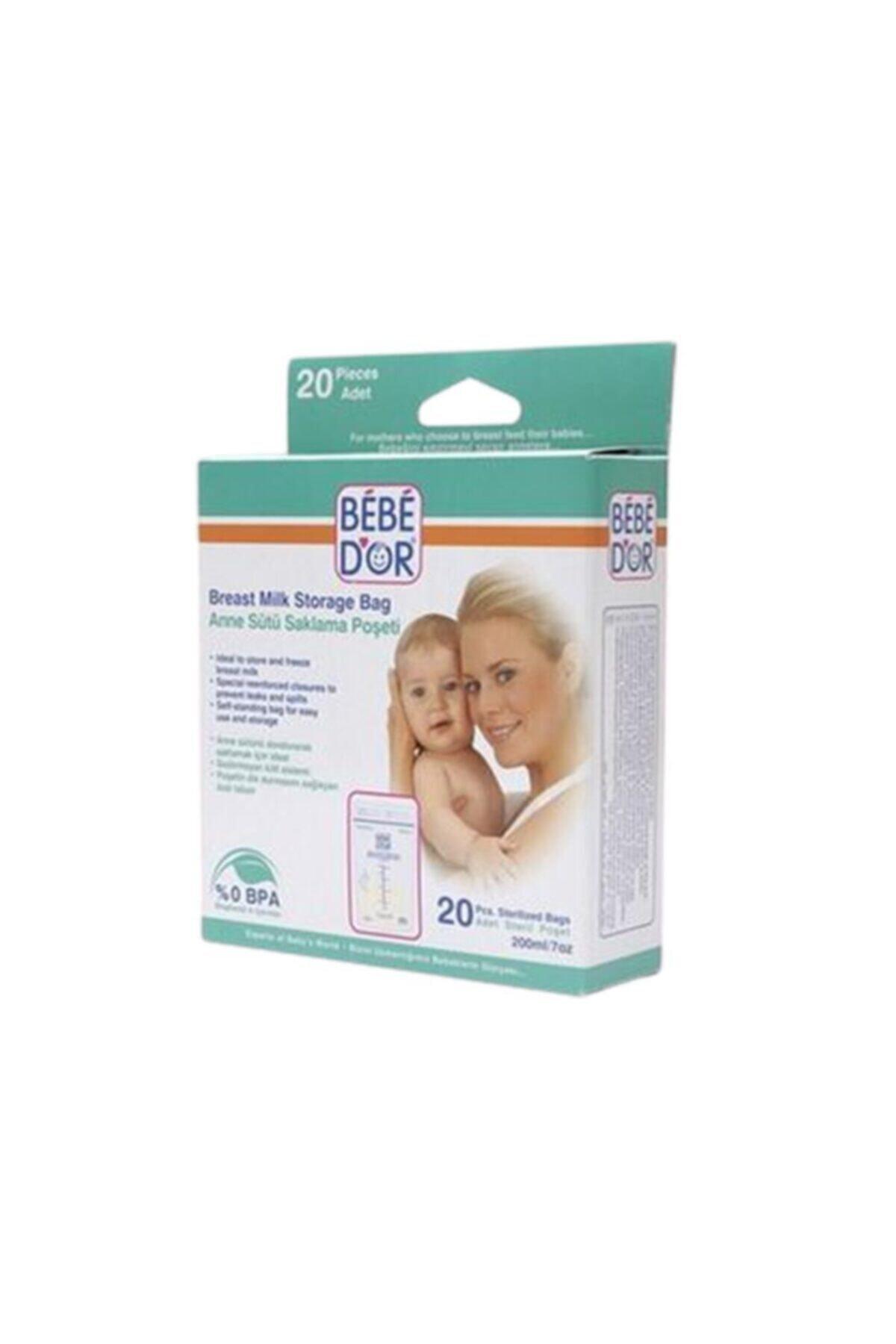 Bebedor Anne Sütü Saklama Poşeti 20 Adet 1