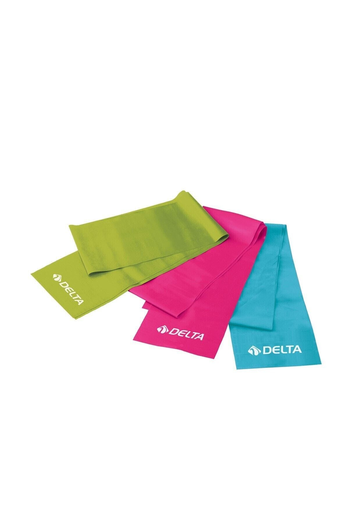 Delta 3 'lü Pilates Bandı 150 cm x 15 cm Egzersiz Direnç Lastiği 1