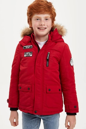 DeFacto Erkek Çocuk Içi Polar Kumaş Detaylı Mont