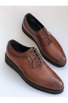 FREE MARKA Taba Suni Deri Klasik Ayakkabı