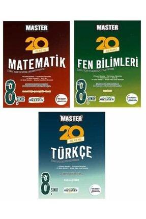 Okyanus Yayınları 8. Sınıf Okyanus Master Deneme Seti Fen Master Türkçe Master Matematik 20'li Deneme