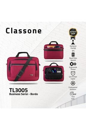 Classone Tl3005 Business Serisi 15.6 Inch Uyumlu Laptop, Notebook El Çantası -bordo