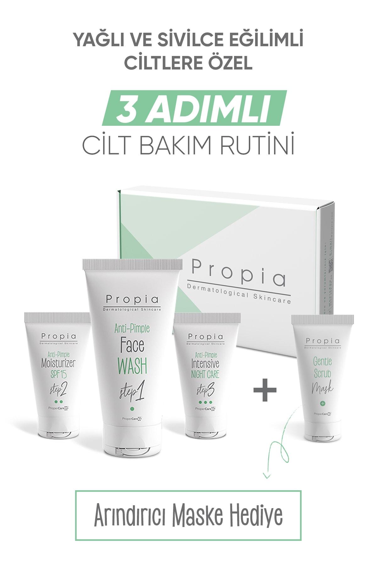 Propia Sivilce Karşıtı 3 Adımlı Bakım Seti + Arındırıcı Maske 8001008002