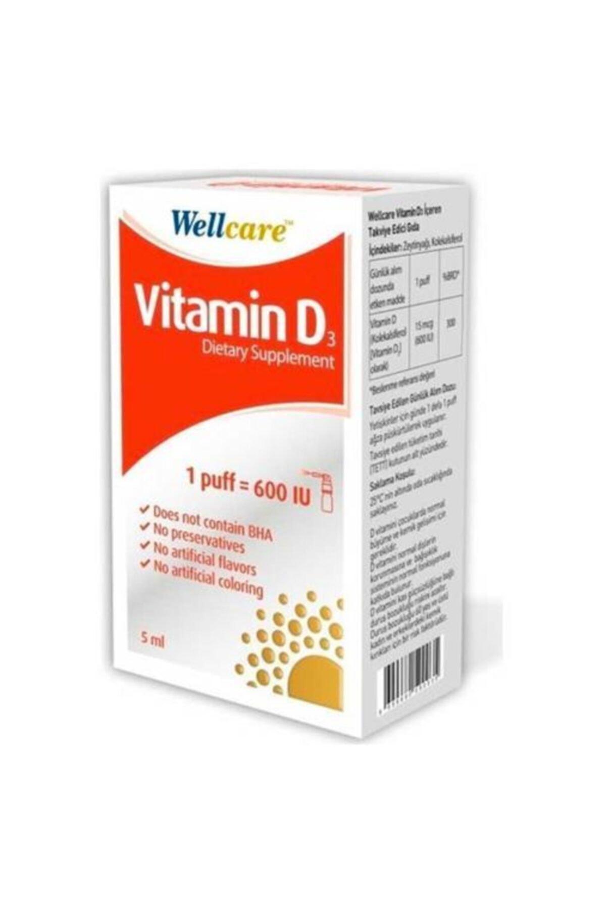 Wellcare Vitamin D3 600 Iu 5 ml 1
