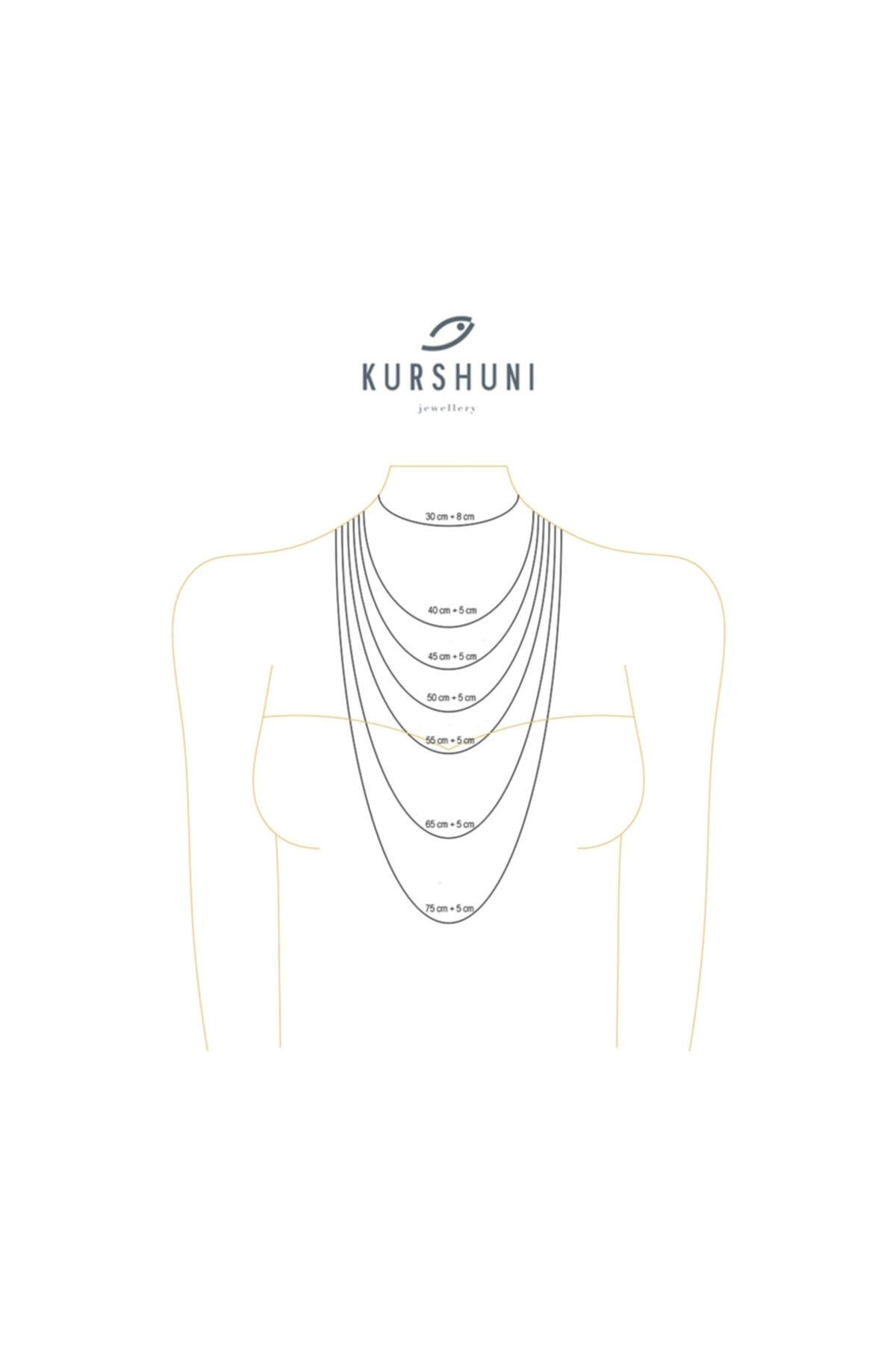 KURSHUNI Kadın Beyaz 925 Ayar Gümüş Tılsım Kolye PR002-2 2