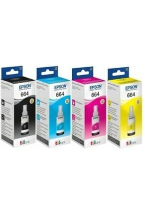 EPSON 4 Renk Mürekkep L100,l110,l120,l130,l200,l210,l220,l222,l300,l310,l312,l350,l355,l362,l365,