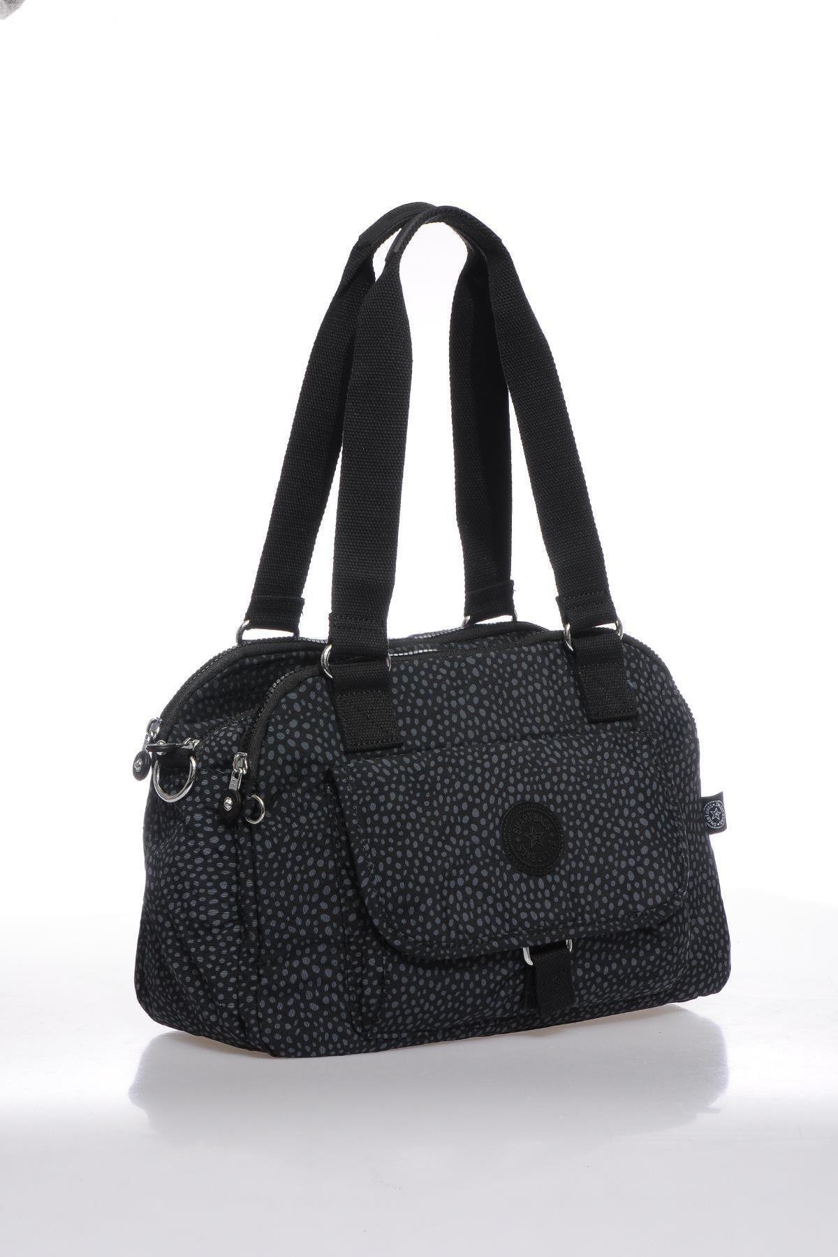 SMART BAGS Kadın Puantiyeli/Siyah Omuz Çantası  Smbk1122-0091 2