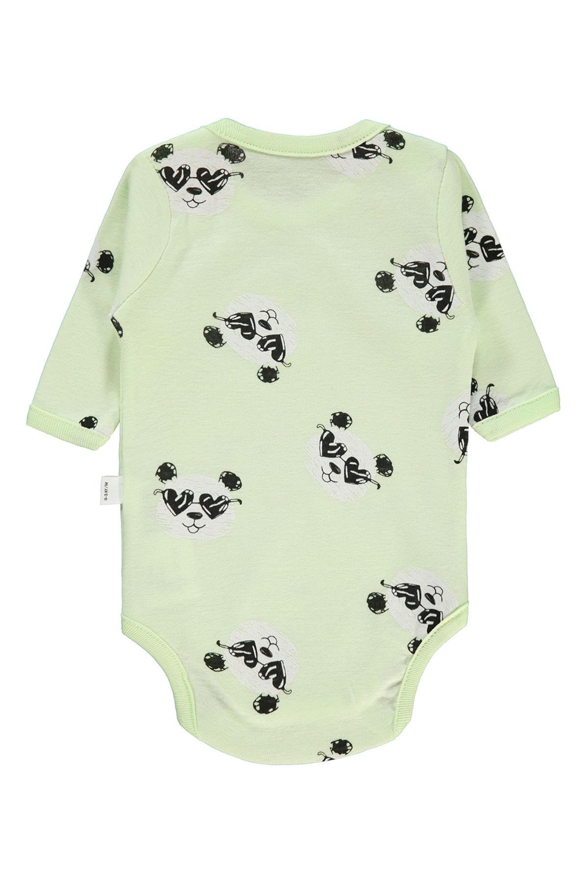 Civil Baby Kız Bebek Çıtçıtlı Badi 0-24 Ay Yeşil 2