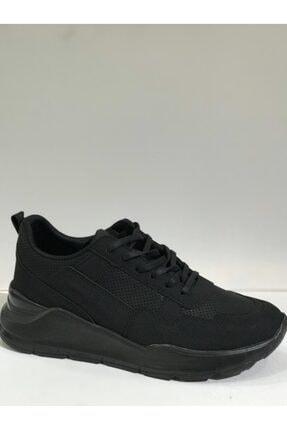 Atlanta Unisex Siyah Kalın Topuklu Süet Spor Ayakkabı
