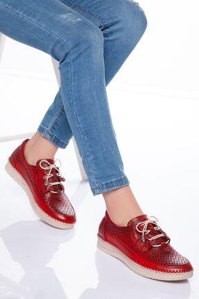 derithy Kadın Kırmızı Hakiki Deri Casual Ayakkabı