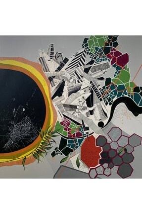 artoloji MELEK YÜKSEK ATİK -Karanlıkta Göç- Tuval üzerine akrilik boya ve mürekkep, 112x112cm.