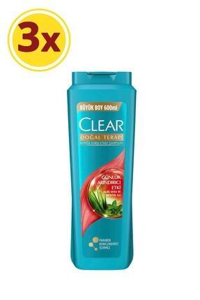 Clear Günlük Arındırıcı Etkili Doğal Terapi Şampuan 600 ml X3