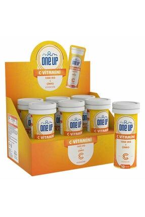 One Up C Vitamini + Çinko 10 Efervesan Tablet 6'lı Kutu - Portakal