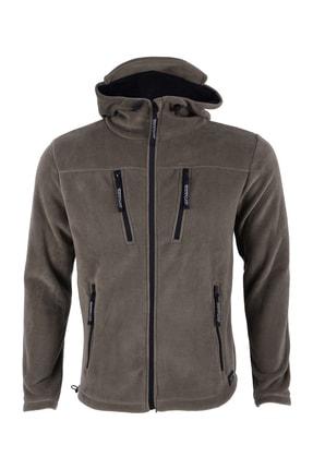 GHASSY CO. Erkek Haki Army Tactical  Polar Kapüşonlu Ceket