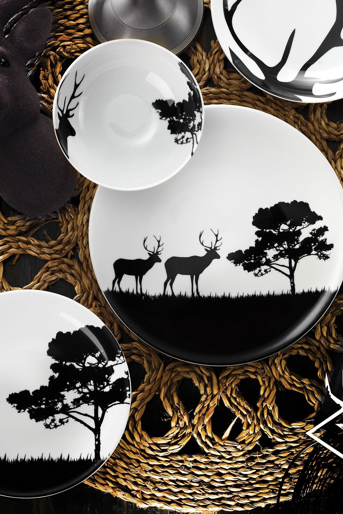 Kütahya Porselen Doğadakiler Serisi 24 Parça Yemek Seti 1