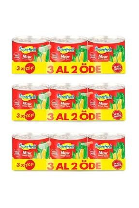 SuperFresh Mısır Konserve 220 gr X 3 Adet X 3 Paket