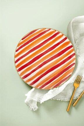 The Mia Fez Pasta Tabağı 6lı Set - 19cm Kırmızı