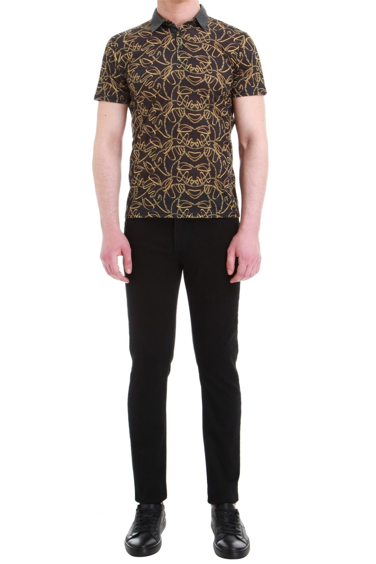 Efor Erkek Siyah Slim Fit Jean Pantolon 034 1