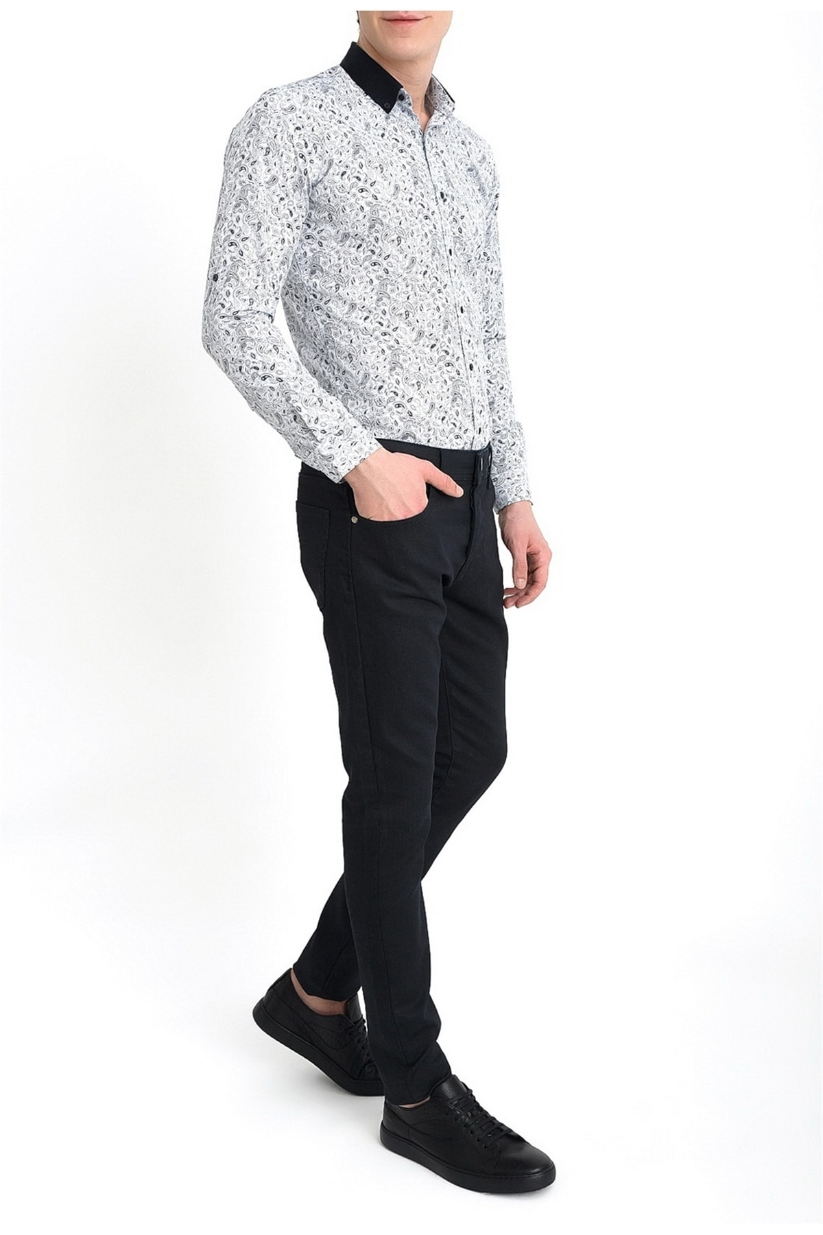 Efor Erkek Lacivert Slim Fit Kanvas Pantolon 036 2