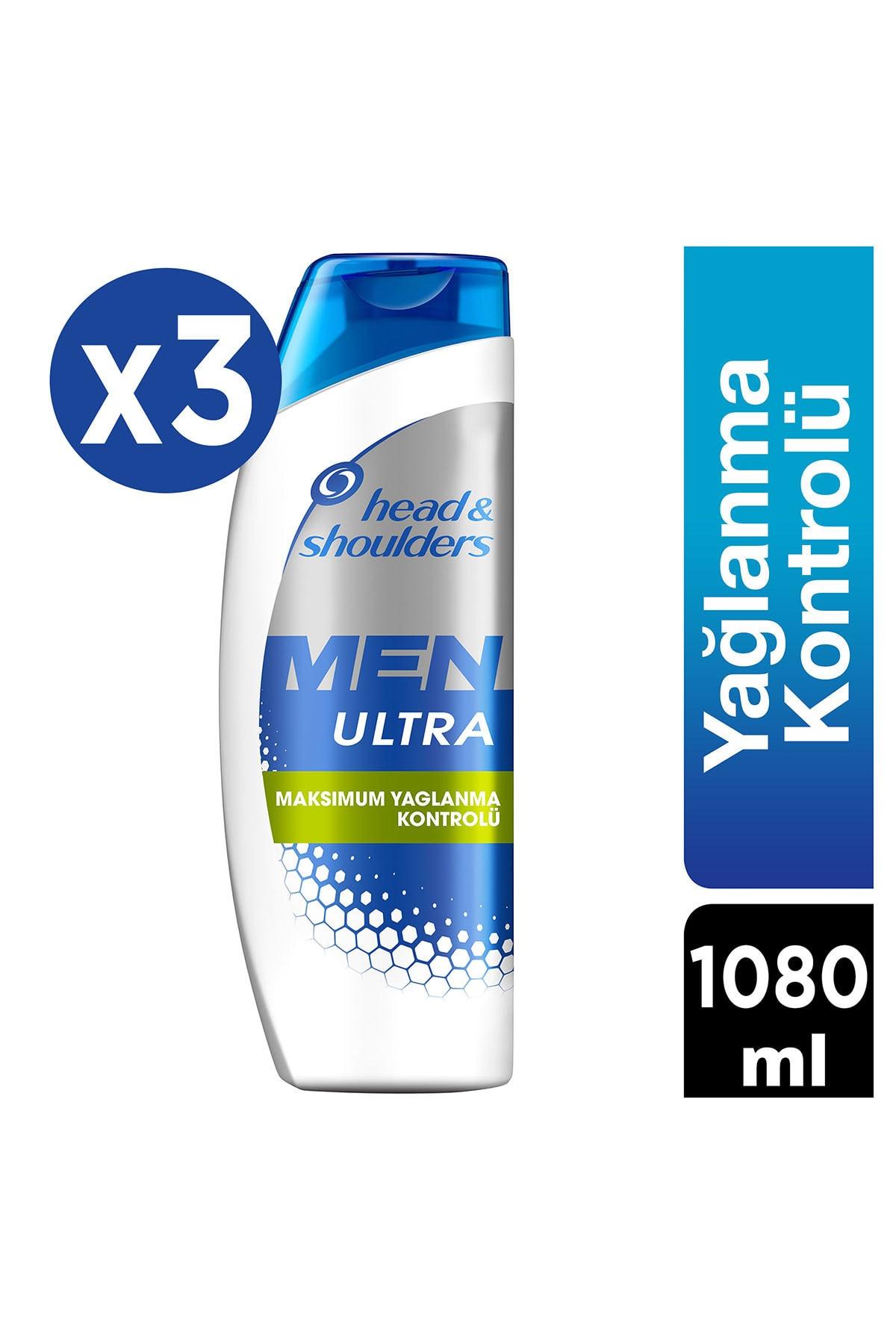Head&Shoulders Men Ultra Erkeklere Özel Kepek Karşıtı Şampuan Maksimum Yağlanma Kontrolü 360 Ml X 3 1