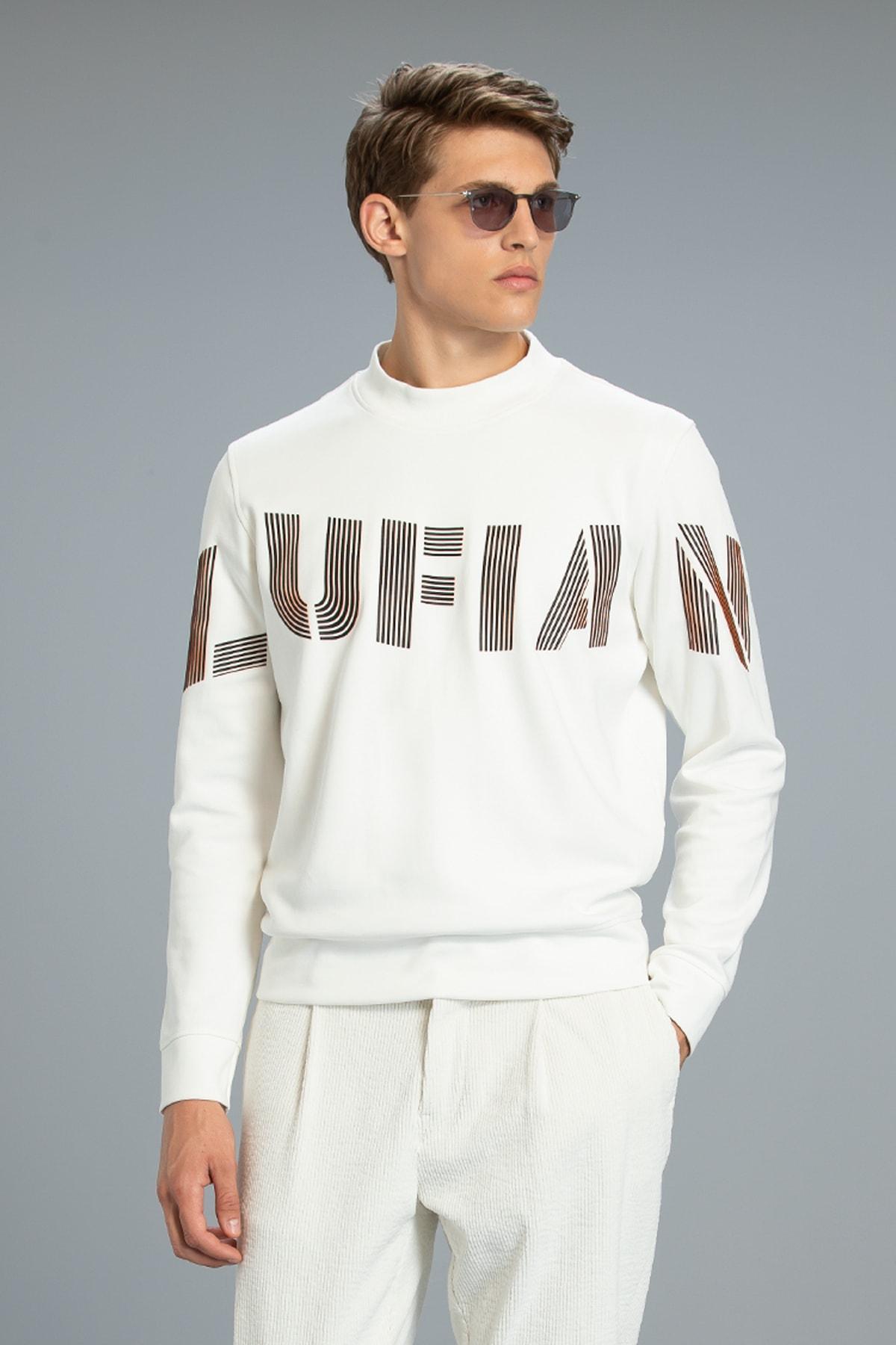 Lufian Todillo Sweatshirt Kırık Beyaz