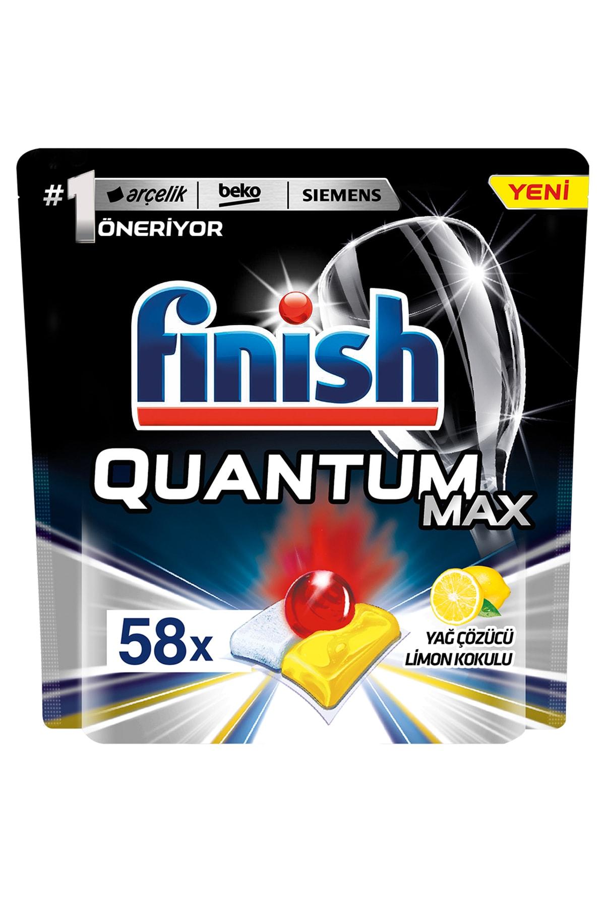Finish Bulaşık Makinesi Deterjanı Quantum Max Limonlu 58 Tablet 2