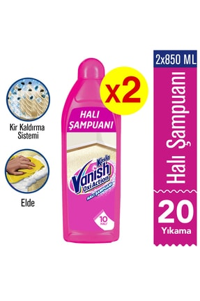 Vanish Kosla Halı Şampuanı Elde Yıkama 2x850 ml