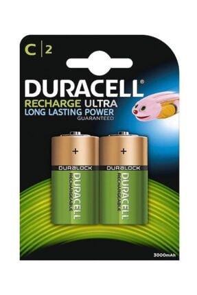 Duracell 3000 Mah Şarjlı C Boy Orta Şarj Edilebilir Pil 1.2 Volt 2li