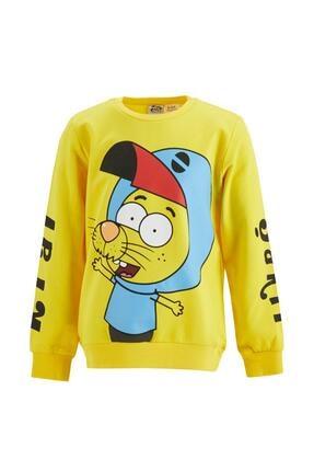 DeFacto Erkek Çocuk Sarı Kral Şakir Lisanslı Sweatshirt