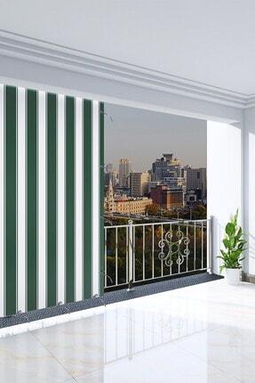 Ataylar Balkon Güneşlik Brandası, 300 X 270 Yeşil Renkli. Balkon Perdesi