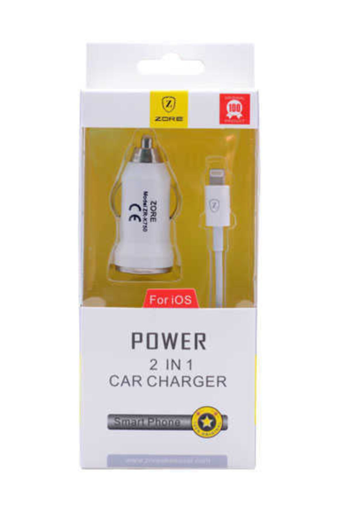 zore Lightning Car Set Charger Z-19 Araç Şarj Seti 1