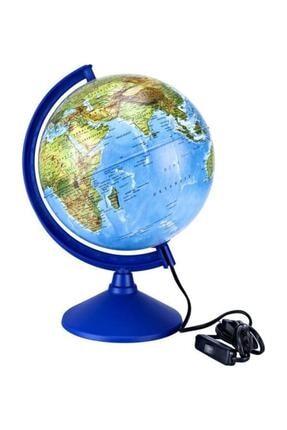 Brons Işıklı Dünya Küre 26 Cm. Çap Siyasi-fiziki
