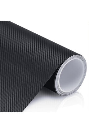 Otografik Siyah Karbon Kaplama Folyo - Hava Kanallı Süper Ürün 25cm X 100cm