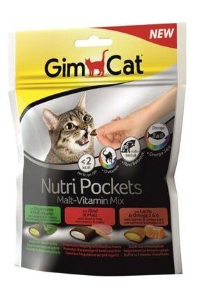 Gimcat Nutripockets Kedi Ödülü Malt&multivitamin 150gr