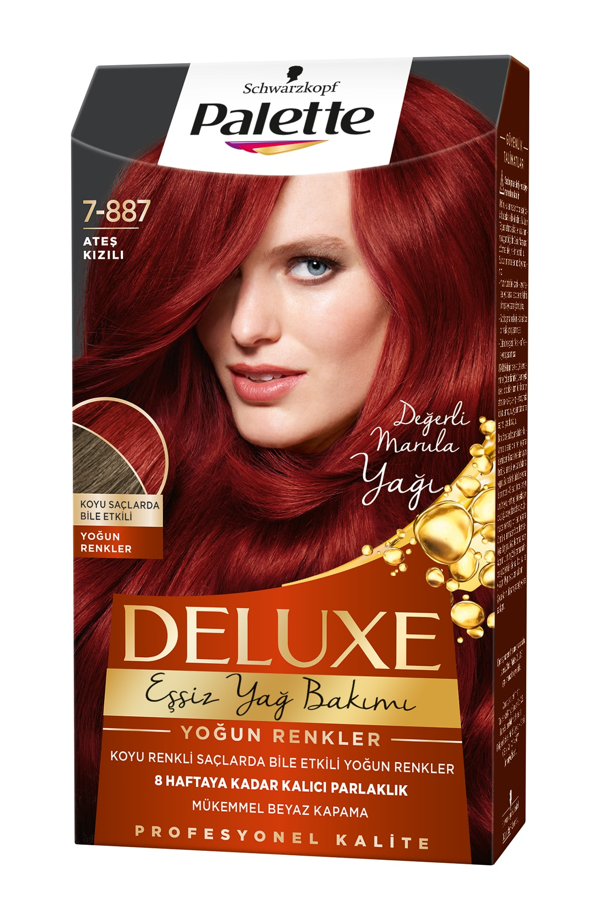 Palette Deluxe Yoğun Renkler 7-887 Ateş Kızılı Saç Boyası 1