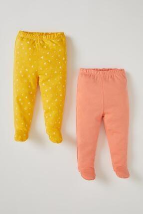 DeFacto Kız Bebek Sarı Patikli 2'li Alt