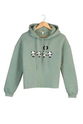 Koton Kadın Yeşil Sweatshirt 1YAL68041IK