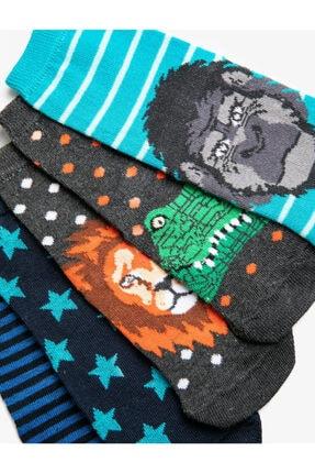 Koton Erkek Çocuk Desenli Pamuklu Çorap Seti 5 Li