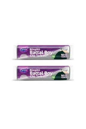 Parex Premium Çöp Torbası Büzgülü Battal Boy 2 Paket