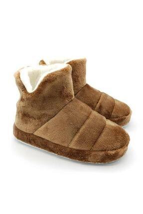 EDS Shoes Unisex Vizon Ev Içi Polarlı Içi Yünlü Ev Botu