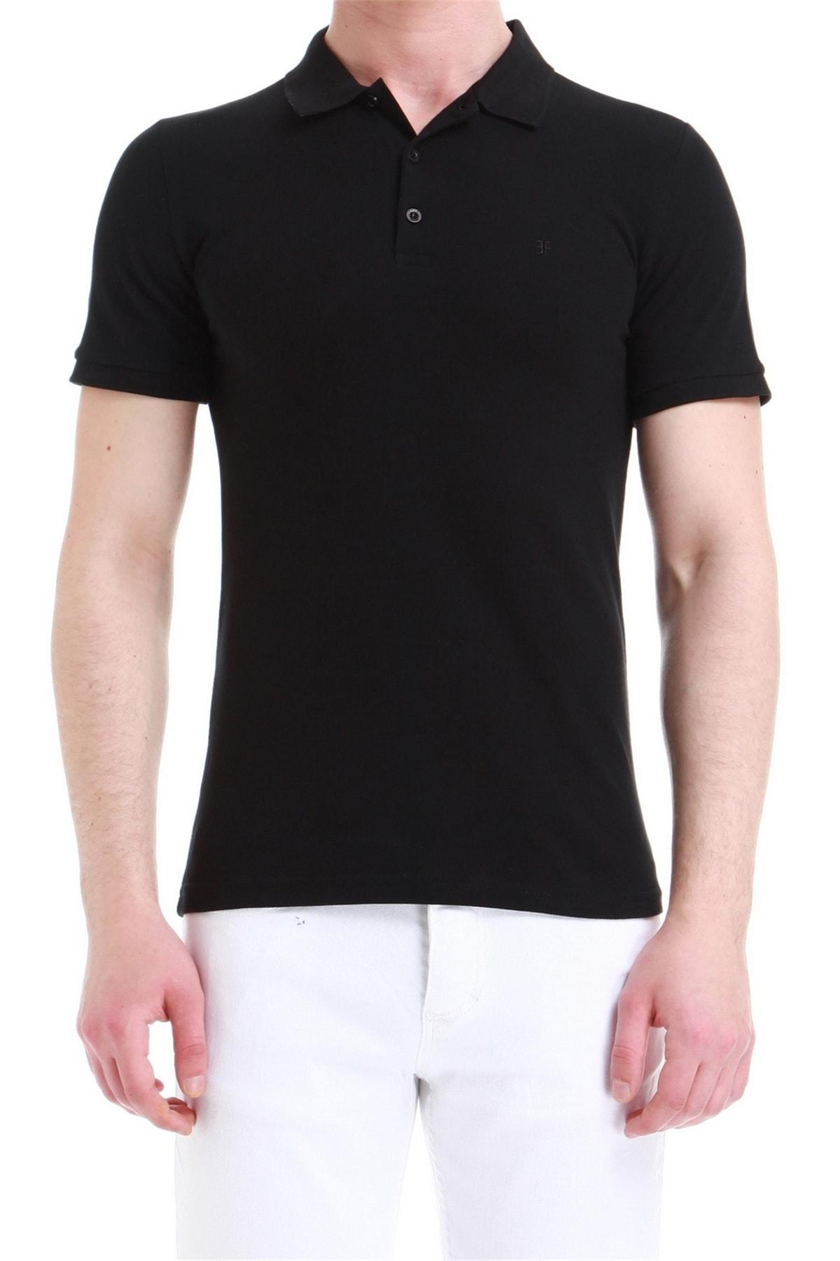 Efor Ts 771 Erkek Slim Fit Siyah Spor T-shirt 1